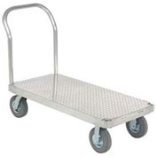 Platform Truck with Diamond Deck, Aluminum, 60 x 30, 1200 Lb. Cap.