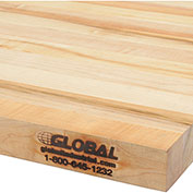 "Workbench Top - Maple Butcher Block Square Edge, 96"" W x 36"" D x 1-3/4"" Thick"