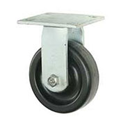"Heavy Duty Rigid Plate Caster 5"" Plastic Wheel"