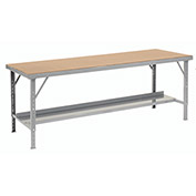 "Heavy-Duty Extra Long Hardboard Folding Assembly Workbench, 120"" W x 48"" D, Gray"