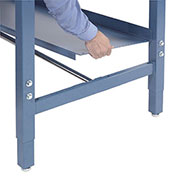 "Lower Shelf For Bench, 60""W x 15""D, Blue"