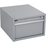 "Stacking Workbench Drawer, Gray, 12""H"