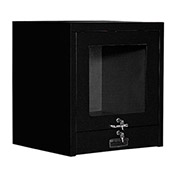"Counter Top CRT Security Computer Cabinet, Black, 24-1/2""W x 22-1/2""D x 27""H"