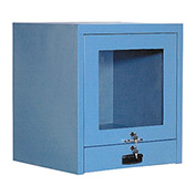 "Counter Top CRT Security Computer Cabinet, Blue, 24-1/2""W x 22-1/2""D x 27""H"