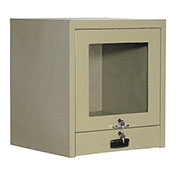 CRT Security Computer Cabinet, Counter Top, Putty