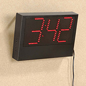 Digital Wall Clock, 6'L Cord