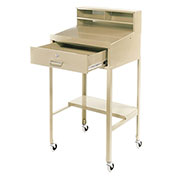 "Open Leg Mobile Shop Desk, 23""W x 20""D x 51""H, Tan"