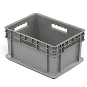 """Akro-Mils 37288 Straight Wall Container Solid Sides & Base 15-3/4""""L x 11-3/4""""W x 8-1/4""""H, Gray - Pkg Qty 12"""