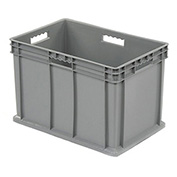 """Akro-Mils 37866 Straight Wall Container Solid Sides & Base 23-3/4""""L x 15-3/4""""W x 16-1/8""""H, Gray - Pkg Qty 2"""