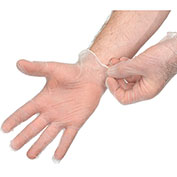 Disposable Powder-Free Vinyl Gloves, X-Large, Clear, 100/Box