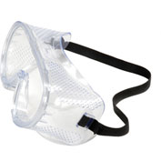 Perforated Impact Resistant Goggles - Standard, Clear Lens, Black Straps