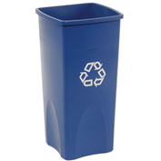 Square Rubbermaid Recycling Container, 23 Gallon, Blue