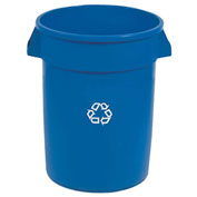 Round Rubbermaid Brute Recycling Container, 20 Gallon, Blue