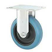 "Heavy Duty Rigid Plate Caster 4"" Molded Plastic Wheel"