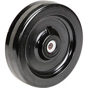 "Molded Plastic Wheel - Axle Size 5/8"", 8"" x 2"""