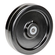 "Molded Plastic Wheel - Axle Size 1"", 12"" x 3"""