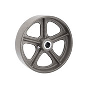 "Semi-Steel Wheel - Axle Size 5/8"", 8"" x 2"""