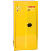 Eagle Paint/Ink Safety Cabinet with Manual Close Door, 96 Gallon, Yellow