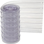 """12"""" x 7' Scratch Resistant Ribbed Clear Strip for Strip Curtains"""