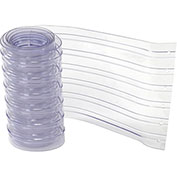 """12"""" x 9' Scratch Resistant Ribbed Clear Strip for Strip Curtains"""