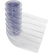 """12"""" x 10' Scratch Resistant Ribbed Clear Strip for Strip Curtains"""