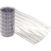 "12"" x 13' Scratch Resistant Ribbed Clear Strip for Strip Curtains"