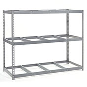 "Wide Span Rack With 3 Shelves No Deck, 96""W x 24""D x 84""H, 1100 Lb Shelf Cap"