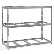 "Wide Span Rack With 3 Shelves No Deck, 96""W x 48""D x 96""H, 1100 Lb Shelf Cap"