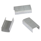 "Pac Strapping Open Steel Strapping Seals, For Use With 1/2"" W Steel Strapping Tools, 2500 Pack"