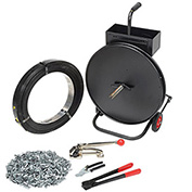 Steel Strapping Kit, 1 Roll Strapping, Cart, Seals, Cutter, Sealer, Tensioner