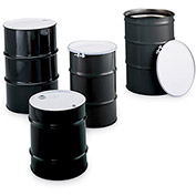 SKOLNIK Carbon Steel Drums - Open-Head Drums - Bolt Ring Closure - 16-Gal. Capacity