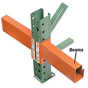 "Pallet Rack Tear Drop Beam - 120""L"