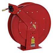 "Spring Retractable Hose Reel Dual Pedestal All Steel With Hose, 1/2"" x 100'"