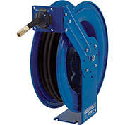"Heavy Duty Spring Rewind Hose Reel For Air/Water/Oil, 3/8"""" I.D., 50' Hose, 30000 PSI"