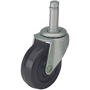 "Algood Standard Series Chair Caster with Soft Rubber Wheel, S803-375SX1SR, 3/8""W x 1""H Stem"