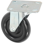 "Medium Duty Rigid Plate Caster 5"" Polyurethane Wheel"