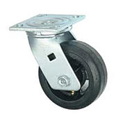 "Faultless Swivel Plate Caster 6"" Mold-On Rubber Wheel"