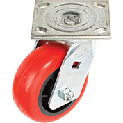 "Faultless Swivel Plate Caster 6"" Polyurethane Wheel"