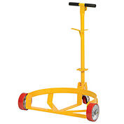 Vestil LO-DC-MR Low-Profile Drum Caddy with Bung Wrench Handle, Mold-on Rubber Wheels