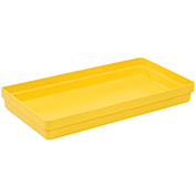 "2 Drum Budget Basin, 51-1/2"" x 26-1/4"" x 6-1/2"", Yellow"