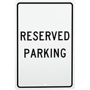 Reserved Parking Aluminum Sign, .063mm Thick