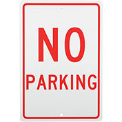 No Parking Aluminum Sign, .063mm Thick