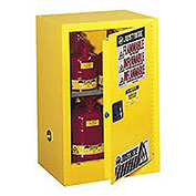 Compact Cabinet, 15 Gallon Capacity, Manual Close Single Door