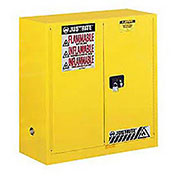 Flammable Cabinet With Self Close Bi-Fold Door, 30 Gallon