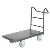 "Platform Truck w/Steel Deck, 8"" Pneumatic Casters with Ergo Handle, 36 x 24, 2400 Lb. Capacity"