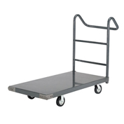 "Platform Truck w/Steel Deck, 5"" Rubber Casters with Ergo Handle, 60 x 30, 1400 Lb. Capacity"