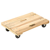 Hardwood Dolly - Solid Deck, 24 x 16, 1000 Lb. Capacity