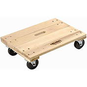 Hardwood Dolly - Solid Deck, 36 x 24, 1200 Lb. Capacity