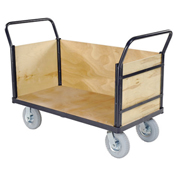 Euro Style Truck - 3 Wood Sides & Deck, 48 x 24, 1200 Lb. Capacity