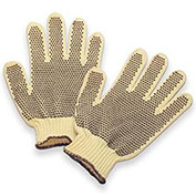 Heavy Weight Double-Sided PVC Dots Kevlar® Gloves, Mens' Size, 1 Pair